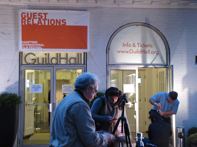 last preparations at Guild Hall - an important event site in East Hampton